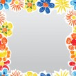 Abstract decorative flowers boarder template — Imagen vectorial