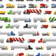 Trucks seamless background — Stockvectorbeeld