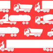 Different types of trucks — Stock Vector