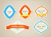 Vintage shopping labels and logo collection — Stock Vector