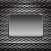 Steel board on metal backgroun — Stock Vector