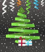Origami Christmas tree — Stock Vector