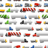 грузовики бесшовный фон — Cтоковый вектор