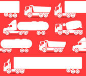Different types of trucks — 图库矢量图片