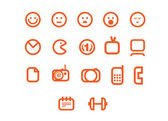Smiles web icons set — Stock Vector