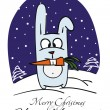Christmas rabbit — Stock Vector #7925554