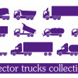 Stock Vector: Vector truck collection
