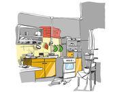 Kitchen color sketch — Stock Vector