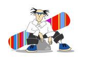 Resting snowboarder — Stock Vector