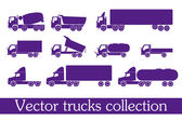 Vector truck collection — Stock Vector