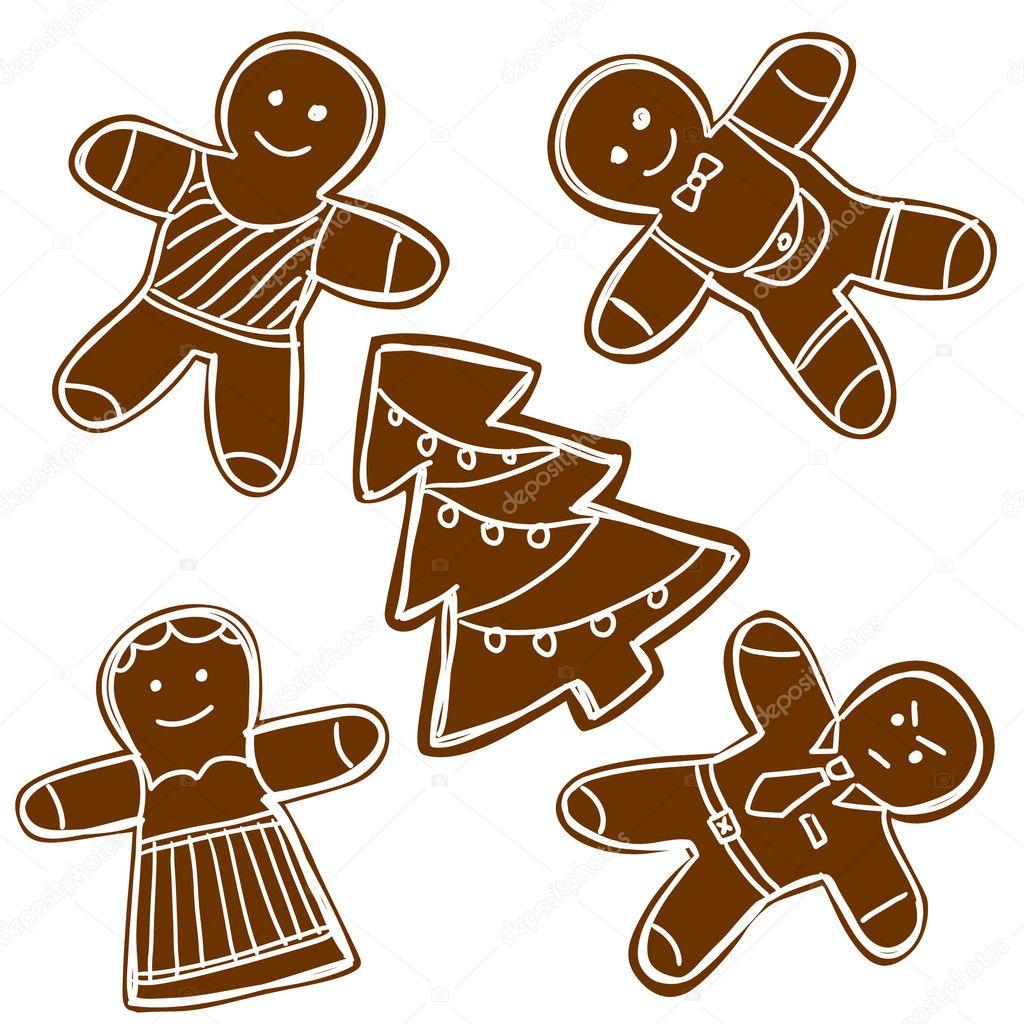 姜饼饼干 — 图库矢量图像08