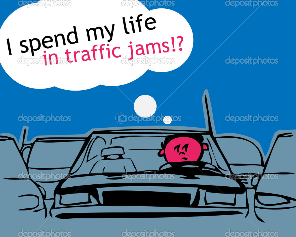 i spend my life in traffic jam stock vector tovovan 7925474. Black Bedroom Furniture Sets. Home Design Ideas