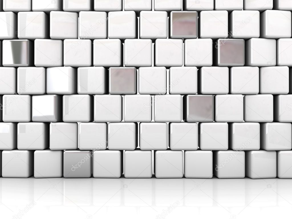 3D blocks abstract background(can be used for printing or web) — Stock Photo #7858234
