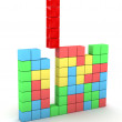 Stock Photo: Puzzle game - tetris