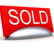 SOLD sign — Stock Photo