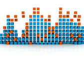 Graphic equalizer — Stock Photo