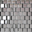 Chrome block background — Stock Photo
