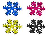 CMYK snowflake — Stock Photo