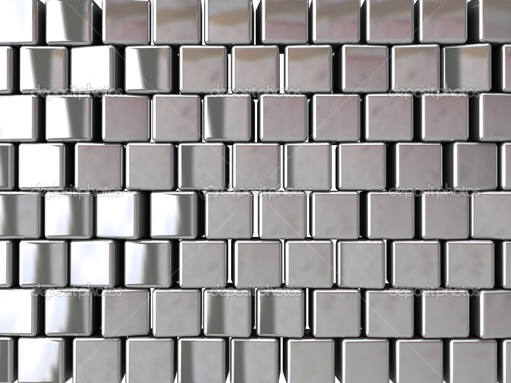Chrome block background (can be used for printing or web) — Stock Photo #7909869