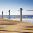 Pontoon bridge and Sea — Stock Photo