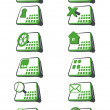 Set of green icons for web site — Stock Photo