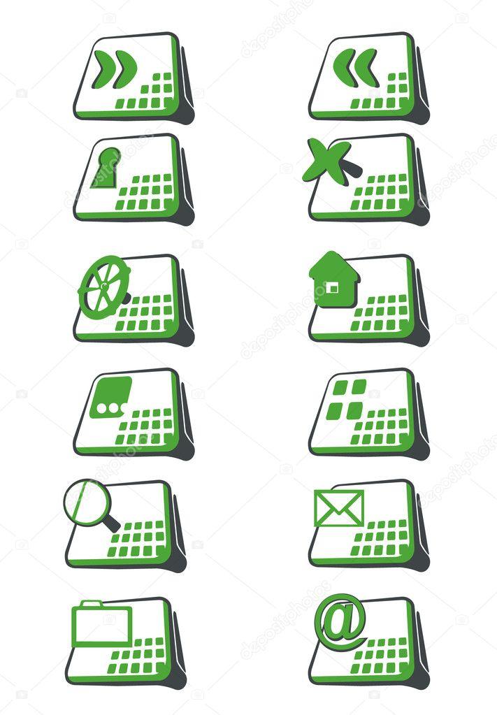 зеленые иконки: