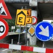Many traffic signs — Stock Photo