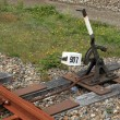 Stock Photo: Railroad switch lever