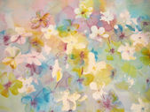 Abstract flowers in soft pastel colors. — Stock Photo