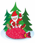 New Year, Santa Claus, holiday — Stock Vector
