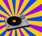 DJ Turntable — Stock Vector