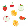 Fruit vector set — Stock Vector #7855998