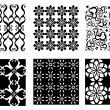 Royalty-Free Stock Vector Image: 6 Black and White Vector Patterns