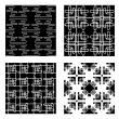 Four Black and White Vector Patterns — Stock Vector #7857687