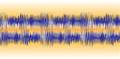 Audio Waveforms — Stock Vector