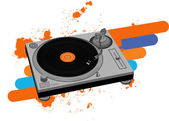 Turntable — Stock Vector