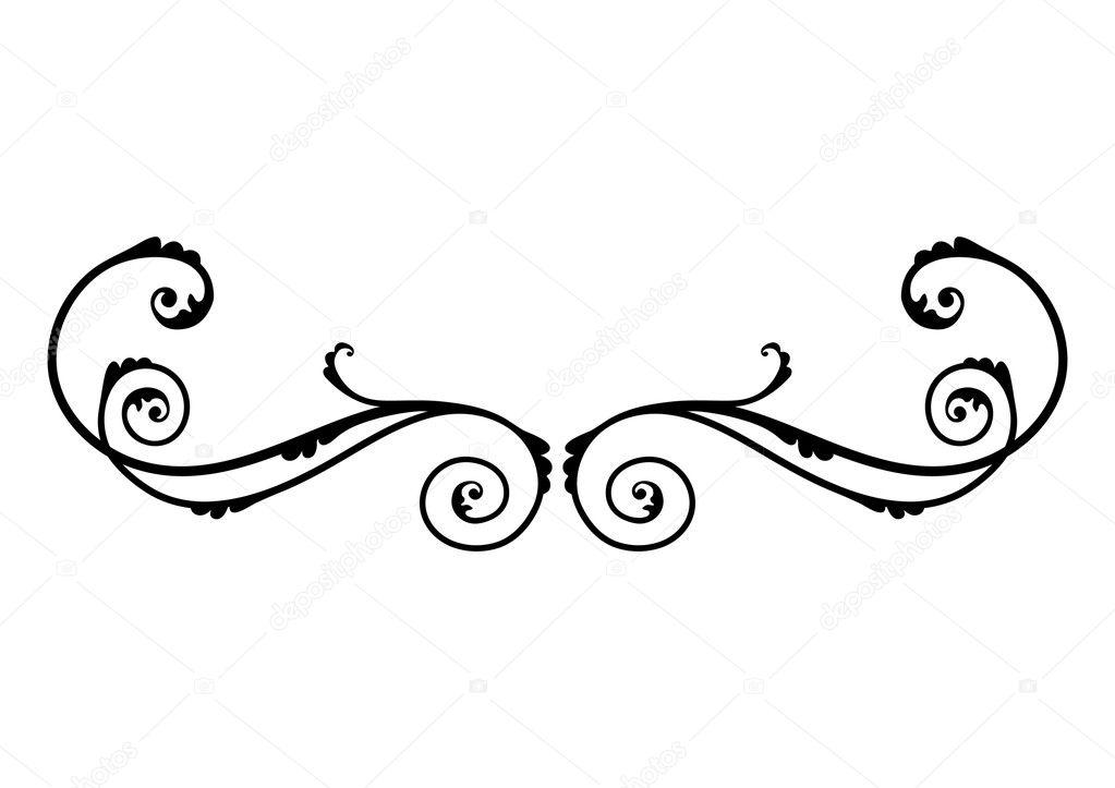 Negros adornos florales vector de stock dzxy 7856295 for Adornos para paginas