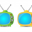 Retro TV icon — Stock Vector #7837135