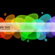 Rainbow abstract vector bubbles — Stock Vector #7874122