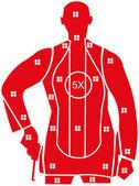 Red Target Paper — Stock Vector