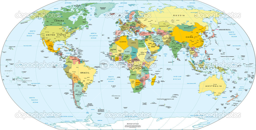 Complete Map Of The World Deboomfotografie - Complete us map