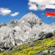 Mount Triglav in the Julian Alps - Slovenia, Europe — Stock Photo #7865368