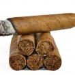 Brown cigar burned — Stock Photo #7865462