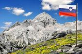 Góra triglav w Europie Alpy Julijskie - Słowenia — Zdjęcie stockowe