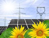 Solenergi paneler — Stockfoto