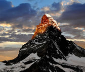 Sunrise on the Matterhorn — Stock Photo