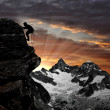 Climbers in Swiss Alps — Stock Photo #7959018
