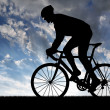 Silhouette of the cyclist — Stock Photo #7959106