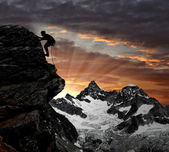 Climbers in the Swiss Alps — Stock Photo