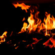 Stock Photo: Detail of fire.